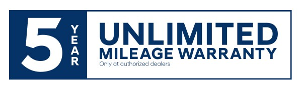 5 Years of unlimited mileage